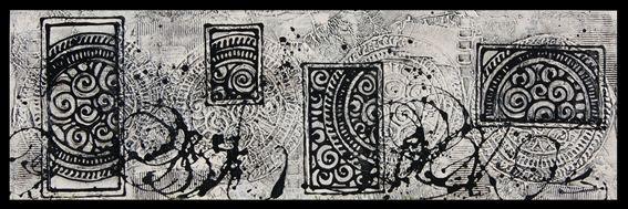 Contemporary Modern Artwork.... Handpainted Original Modern White & black Painting. Black white & silver