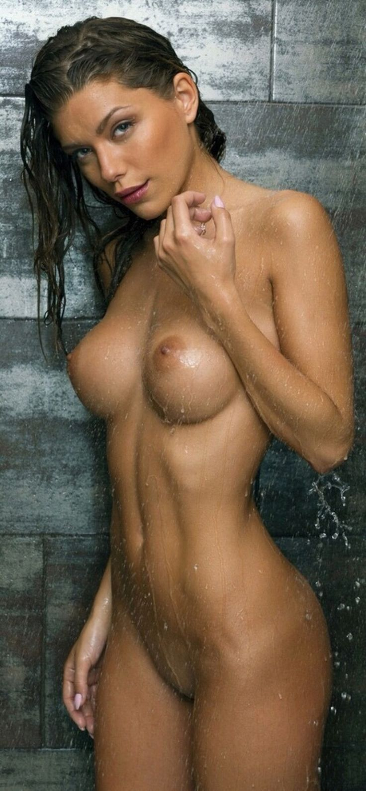Fine naked women in shower