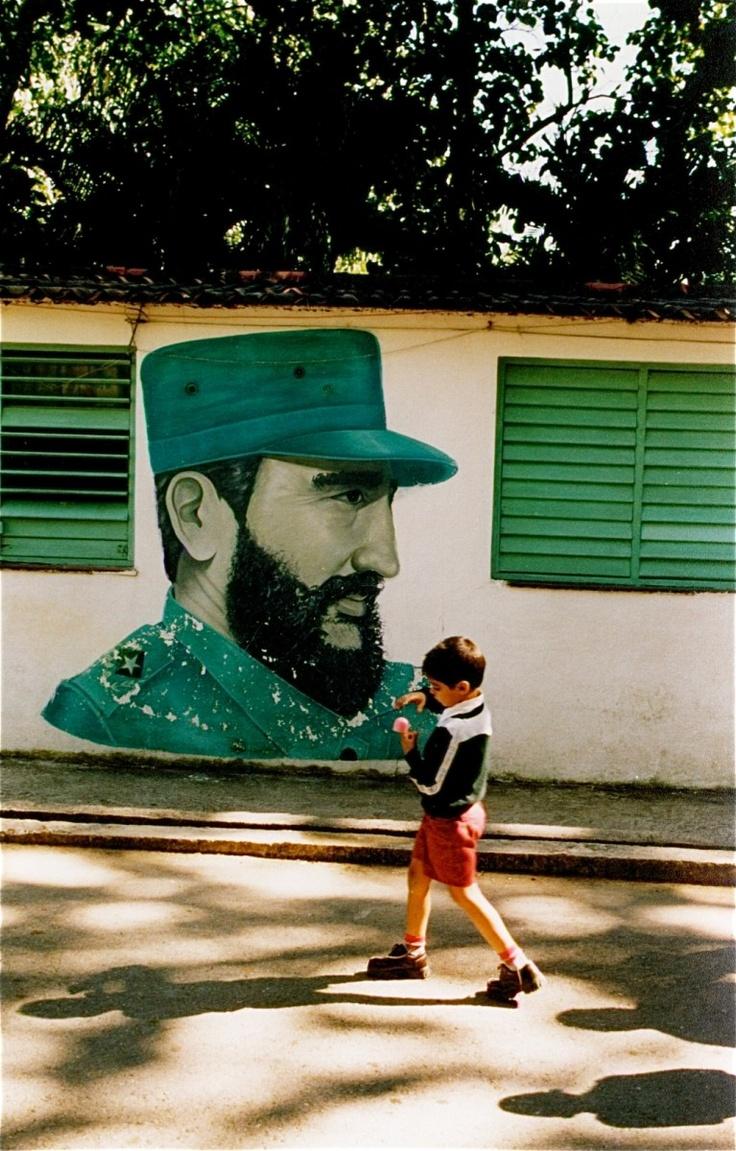 Fidel Castro School Propaganda, Cuba #art #green