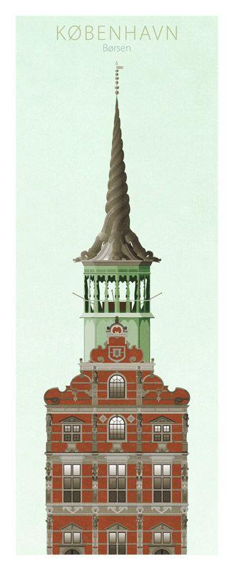 Famous Towers of Copenhagen by Dominique Jal (www.dojal.dk ) - Borsen