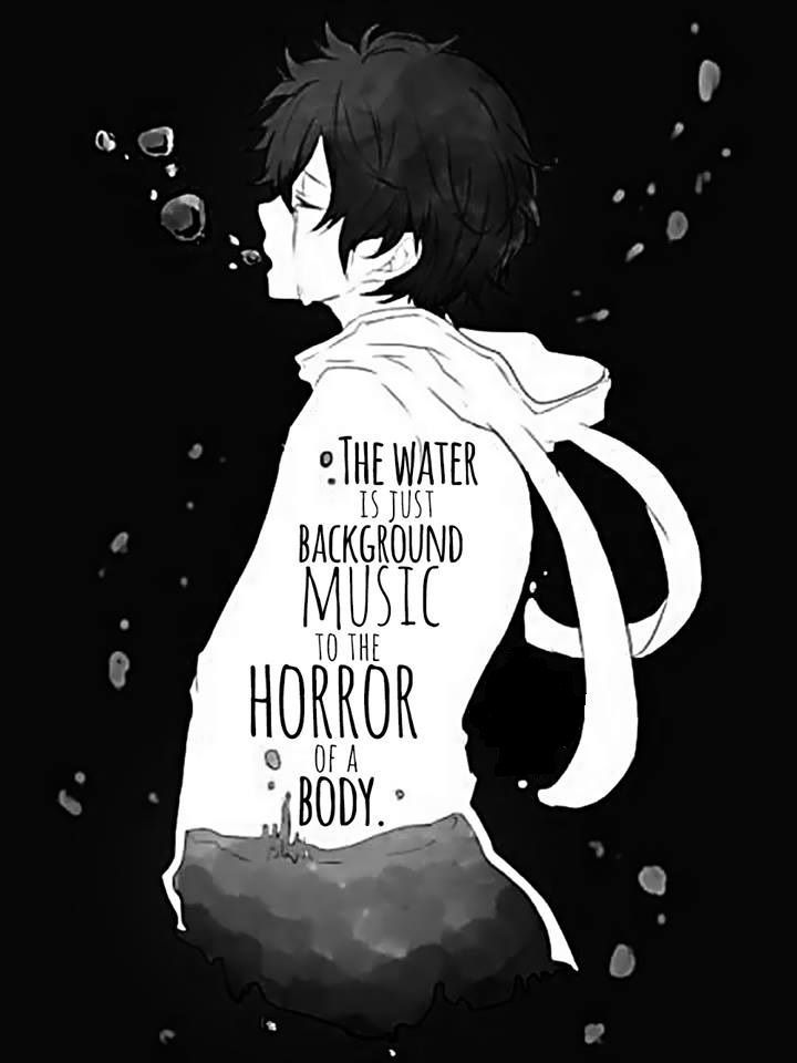 image result for sad anime boy crying with quotes rain of blood