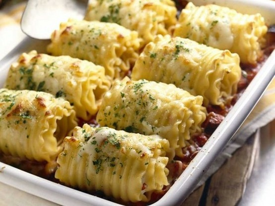 Chicken and Cheese Lasagna Roll-Ups - Click for Recipe - Click image ...