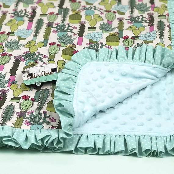 ❤ ️Cactus Ruffle Kinder Mat Cover set for girls ❤ Help your toddler feel comfy just like home and get a restful nap at preschool, Mother's Day Out or a sleepover. ❤ About This Product ❤ Each set Includes nap mat cover, blanket and envelope pillow case but does not include the actual