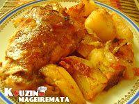Συνταγές φαγητών: Κουνέλι κοκκινιστό στο φούρνο με πατάτες