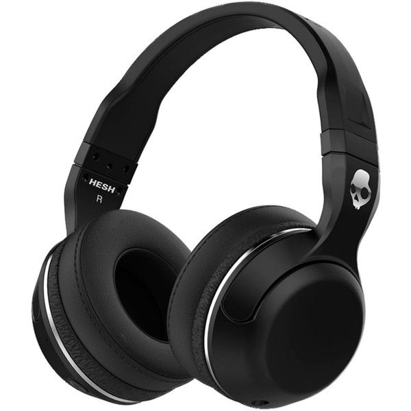 Skullcandy Hesh 2 Wireless Bluetooth Headphones ($100) ❤ liked on Polyvore featuring men's fashion, men's accessories, men's tech accessories, black and mens leather accessories