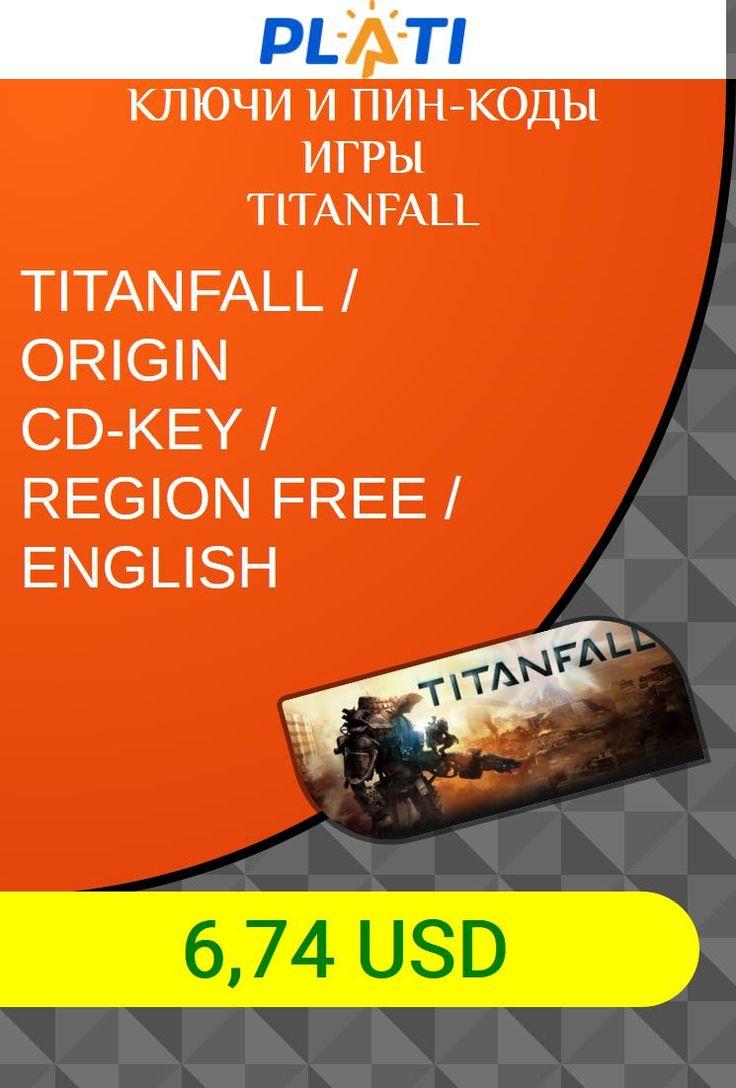 TITANFALL / ORIGIN CD-KEY / REGION FREE / ENGLISH Ключи и пин-коды Игры Titanfall