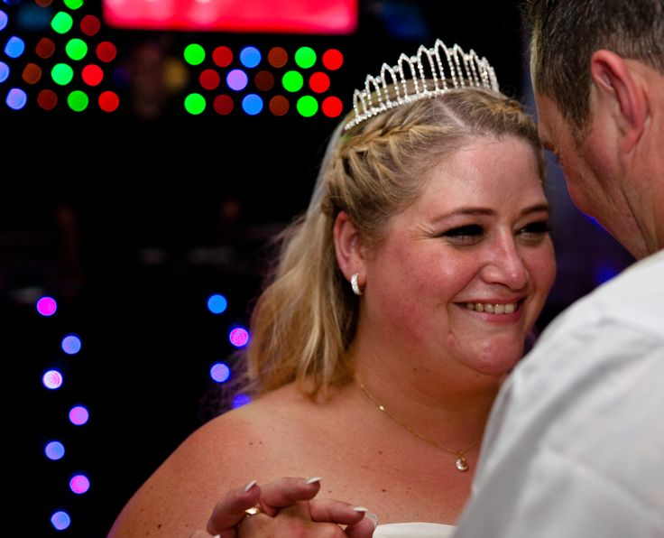 Wedding photography showing the bride & groom doing the first dance AGV club Acton.