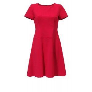 Kossmann - czerwona rozkloszowana sukienka