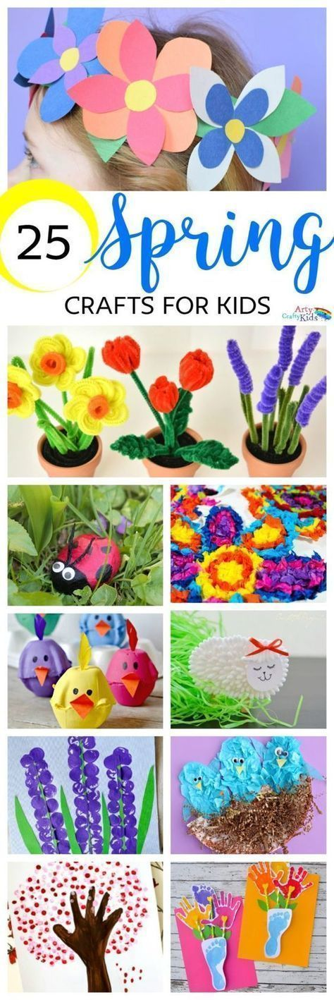 Arty Crafty Kids Crafts Spring 25 Spring Crafts for Kids Discover a gorgeous collection of easy and fun Spring crafts for kids! #kidscrafts