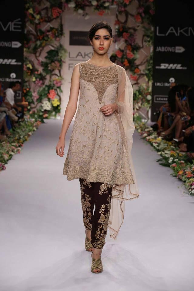 Shyamal & Bhumika Lakme Fashion Week Summer Resort 2014 black and beige…