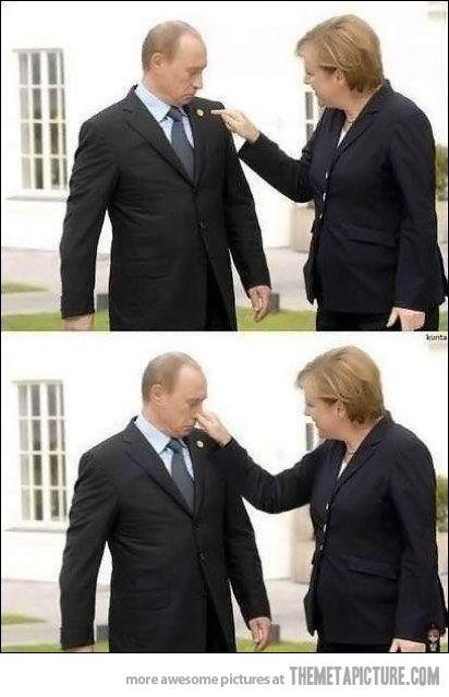 funny Angela Merkel Vladimir Putin prank: