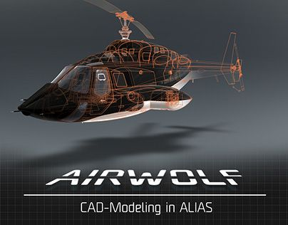 """AIRWOLF-design a helicopter"" http://on.be.net/1Ry3xyS #airwolf #design #helicopter #industrialdesign #cad #autodesk #alias"
