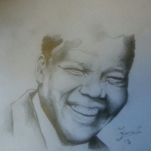 madiba pencil scetch