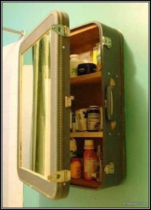 Turn an old suitcase into bathroom storage   Home Bathroom   Pinterest   Bathroom storage, Suitcase and Storage