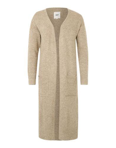 #OBJECT #Damen #Longcardigan #´OBJNina´ #beige Mit seiner extra langen Form trumpft der Cardigan ´OBJNina´ aus dem Hause Object ganz groß auf. Über coolen Jeansoutfits getragen, wird der Look ein ganz besonderer.
