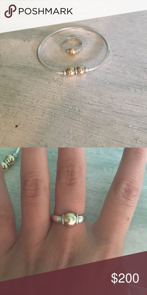 Authentic Cape Cod gold and silver bracelet & ring These are both in great condition!!!! Some of my favorite pieces Cape Cod Jewelry Bracelets