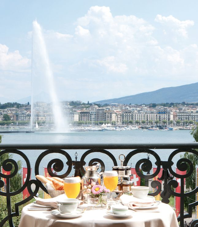 Lakeside luxury in the heart of the city, with a Michelin-starred restaurant and Alps views in #Switzerland. #jetsettering