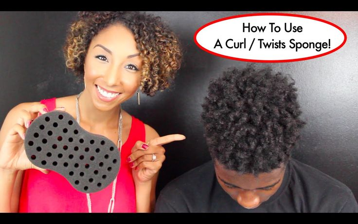 How To Use A Curl / Twists Sponge, Tutorial For Long Natural Hair | Bian...
