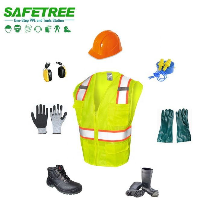 A complete set of personal protective equipment ppe safety
