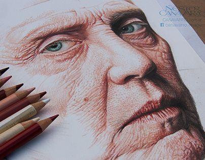 Christopher Walken - Color Pencils - Work in Progress