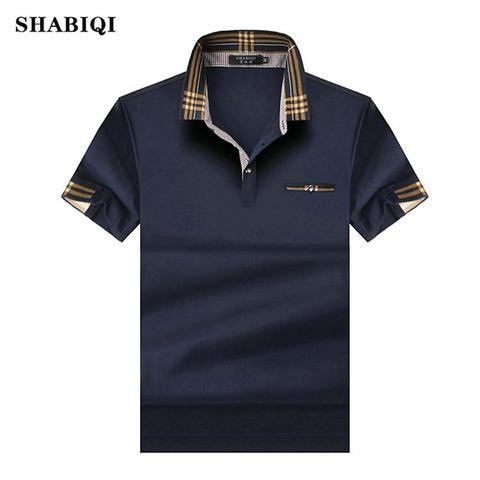 59180276b SHABIQ 2018 Brand Fashion Classic Men Polo Shirt Summer Short Sleeve Polos  Shirt Mens Solid Shirt Cotton Shirt Plus Size S-10XL!