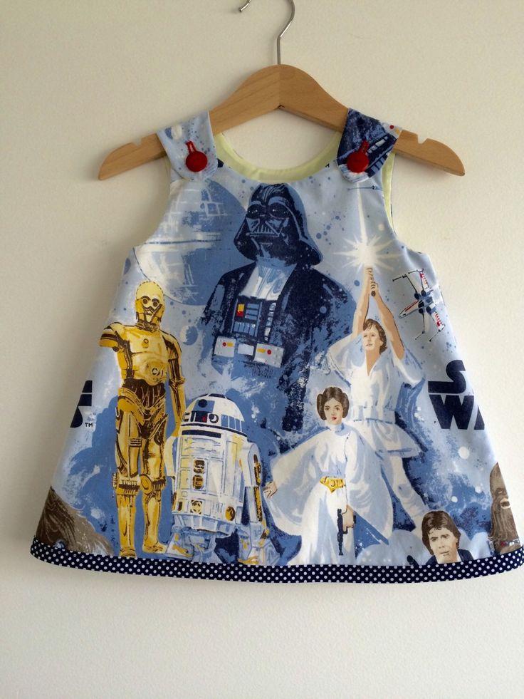 Girl baby toddler dress Star Wars A line dress by VelvetsEmporium on Etsy https://www.etsy.com/listing/254180540/girl-baby-toddler-dress-star-wars-a-line