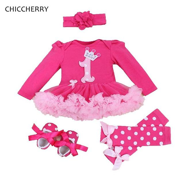 Special offer Crown 1 Year Birthday Baby Girl Dress Baby Lace Romper Dress Bow Headband & Legwarmers Set Vestodo Fille Princess Infant Clothes just only $17.98 with free shipping worldwide  #babygirlsclothing Plese click on picture to see our special price for you