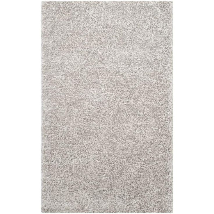 South Beach Shag Ice (White) 8 ft. x 10 ft. Area Rug