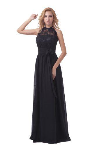 Dresstells Halter Long Bridesmaid Dress Chiffon Formal Evening Gown Plus Size US 2 Black Dresstells http://www.amazon.com/dp/B00DU0PLJW/ref=cm_sw_r_pi_dp_9eu2tb139XE4J3WC