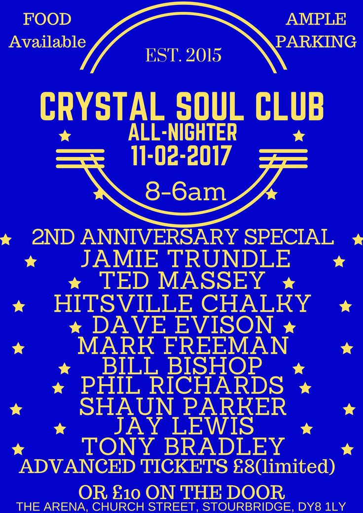 CRYSTAL SOUL CLUB(STOURBRIDGE) 2ND ANNIVERSARY - Allnighters - Soul Source