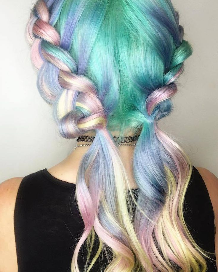 Pastel Braids' Hair Trend Gives Women a Twisting Crown of Color