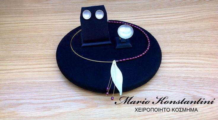 #kolie #skoularikia #daxtulidi #white #kolie #necklace #ring #daxtulidi #earrings #skoularikia