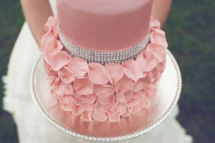 Torte nuziali a due piani, le più belle - Torta nuziale rosa