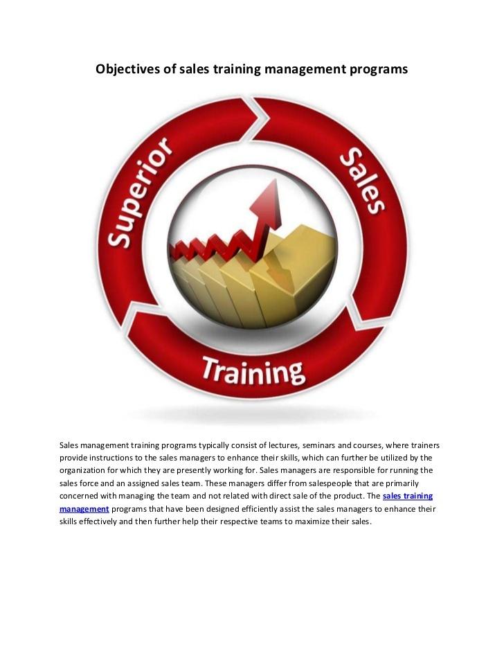 objectives-of-sales-training-management-programs by Santosh Shukla via Slideshare