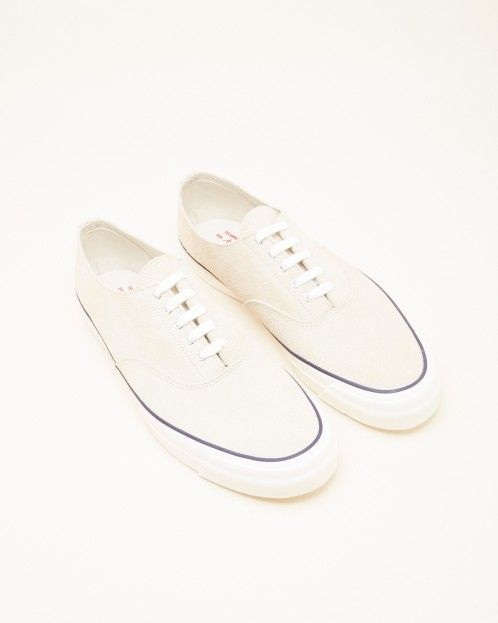Wakouwa Suede Deck Shoes in Sand/White