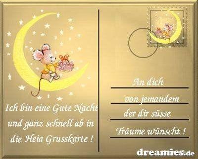 Gute Nacht mein kleines Mäuschen!
