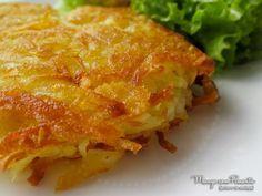 Batata Rosti ou Batata Suiça, perfeito para um almoço diferente no dia a dia. Clique na imagem para ver a receita no blog Manga com Pimenta.