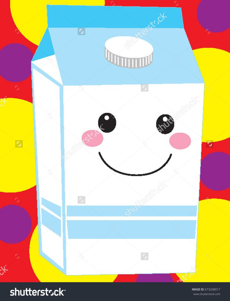 Milk Carton Jug Half Gallon Dairy Grocery  Product With Smiley Emoji Happy Face And Colorful Background Beverage Package