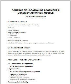 17 meilleures id es propos de contrat de pr t sur Contrat de colocation meublee