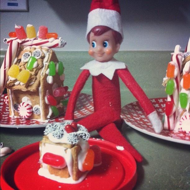 The Elf on the Shelf mini gingerbread house www.blessedlittlethistle ...