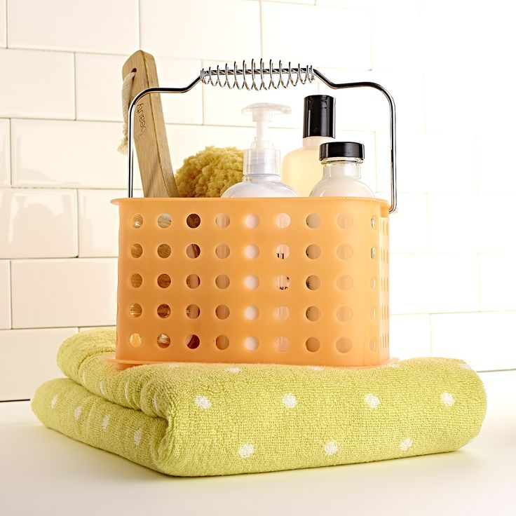 Dorm Bathroom Caddy: Dorm Life! Grab A Shower Caddy And A Plush, Printed Towel