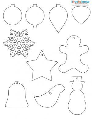 Free Christmas ornaments printable
