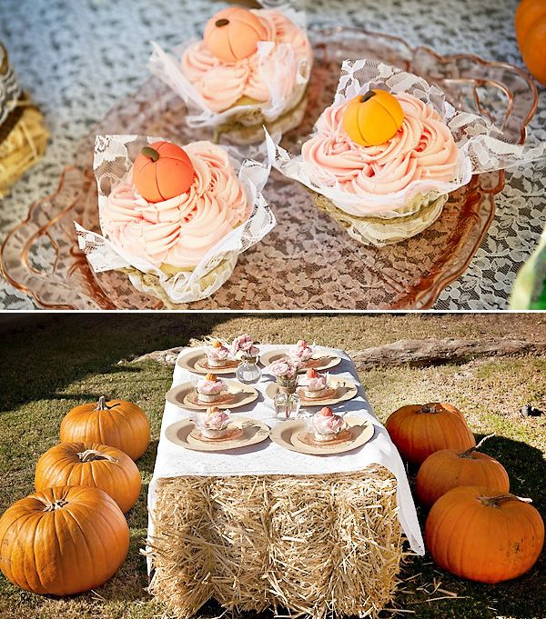 Vintage Pumpkin & Roses birthday - could be perfect for October! :)