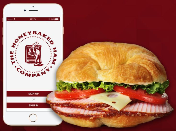 Download the Honeybaked Ham app, and you'll get a free Ham Classic Sandwich!