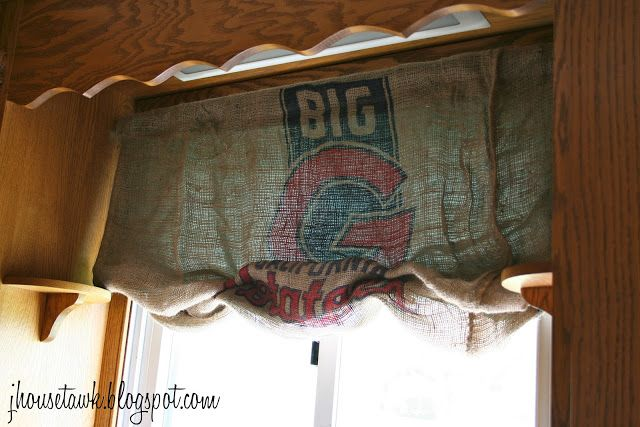 8 Best Feed Sack Curtains Images On Pinterest Burlap