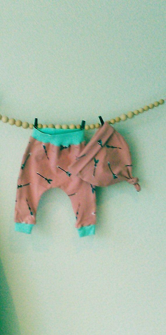 Sale Baby setje harem broek en mutsje. Baby meisje door ShopStudioSD