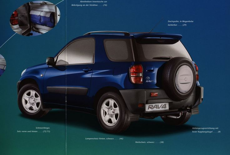 https://flic.kr/p/FJAkCf | Toyota RAV4 Zubehör;  2000_2 | auto car brochure | by worldtravellib World Travel library