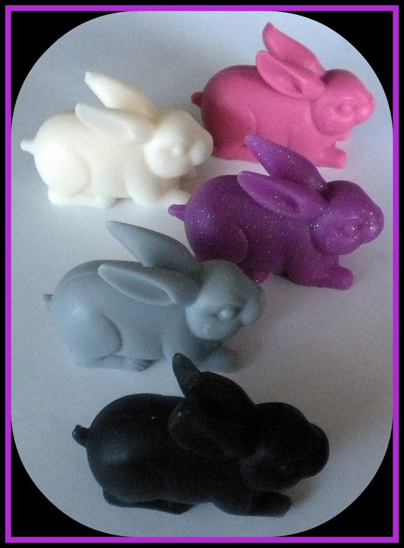 Soap  Bunny Soaps  Set of 3  Animal  Rabbit  by BigTRanchSoap