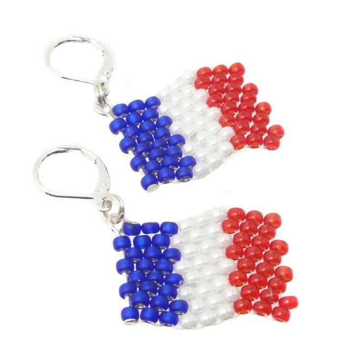 Ohrringe - Ohrhänger Flagge Frankreich - WM 2018 - Fanartikel