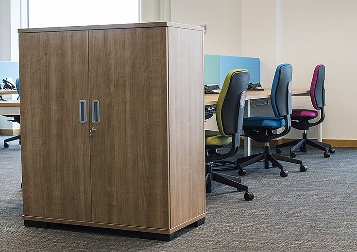 Workplace storage solutions were an essential part of this project